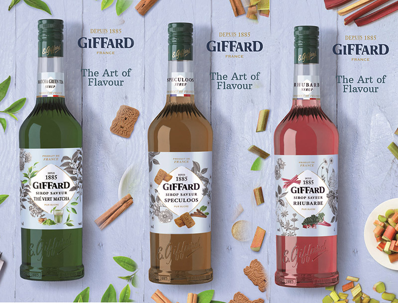 The three new syrups from GIFFARD